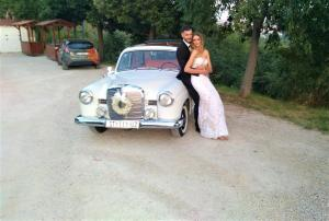 Oldtimer Mercedes benz 1958 wedding cars for hire in croatia antropoti concirge service vip sp (7)