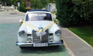Oldtimer Mercedes benz 1958 wedding cars for hire in croatia antropoti concirge service vip sp (3)