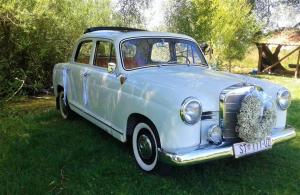 Oldtimer Mercedes benz 1958 wedding cars for hire in croatia antropoti concirge service vip split (1)